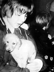 Young Morten with his poppy
